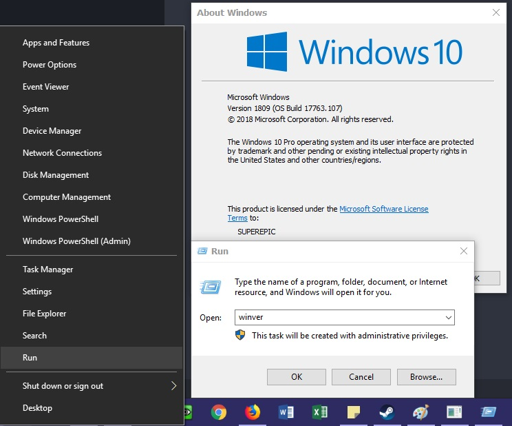 Versi Windows 10 dari Run